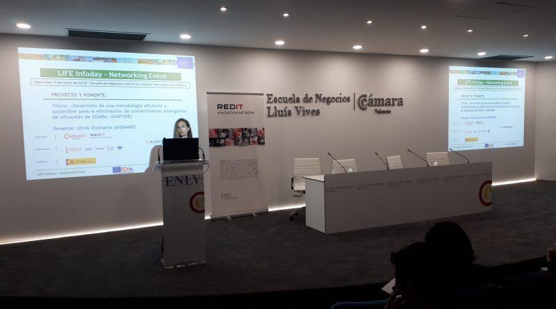 AIDIMME participa en el Infoday regional del programa LIFE 2018 dando a conocer la actualidad del proyecto europeo LIFE EMPORE