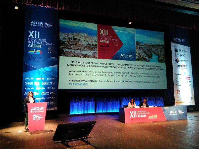LIFE-EMPORE participa en el XII Congreso Internacional de la Asociación Española de Desalación y Reutilización (AEDyR)